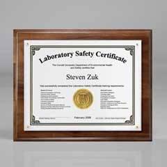 Walnut Certificate/Overlay Plaque