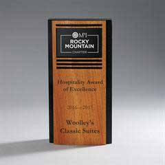 Ebony Lucite with Alder Wood Panel with Rectangle Award