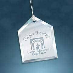 Glass Mirror Beveled House ornament