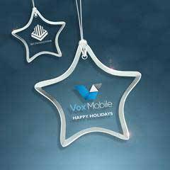 Jade Glass Beveled Star Ornament