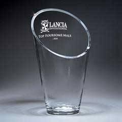 Value Line Glass Slant front Vase (med)