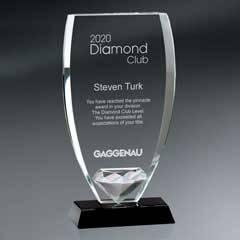 Glass Shield w/ Diamond On Base (sml)