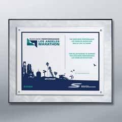 Metal Swirl Certificate Plaque