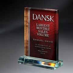 Award on Base-Dual Wood Background