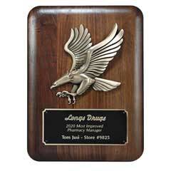 Plaque w/ Gold Eagle Metal Casting (med)