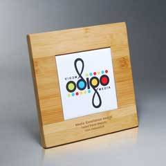 Bamboo Plaque w/ Digi-Color Tile