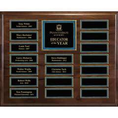 Master Plaque w/ 18 Plate w/Release Program