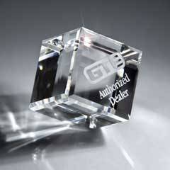 Optic Clear Crystal Cube - Large