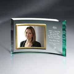 """Crescents Jade Glass With 7"""" X 5"""" Frame"""