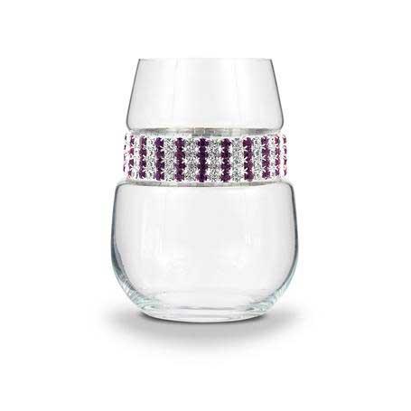 BWSAT - Blank Stemless Wine Glass Amethyst Bracelet