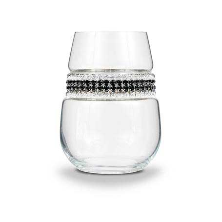 BWSBT - Stemless Wine Glass Black Tie Bracelet