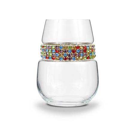 BWSCF - Stemless Wine Glass Confetti Bracelet