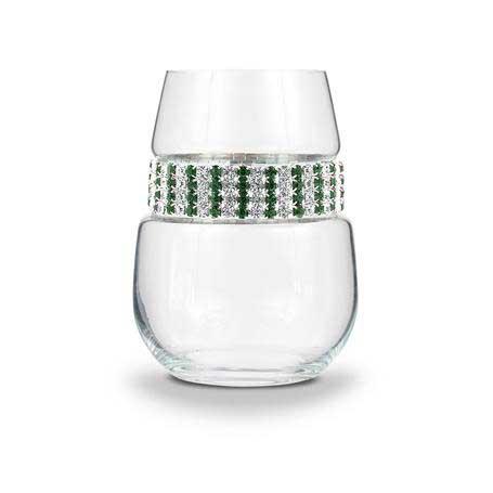 BWSEM - Blank Stemless Wine Glass Emerald Bracelet