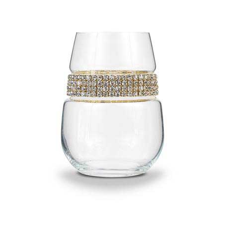 BWSGL - Stemless Wine Glass Gold Bracelet