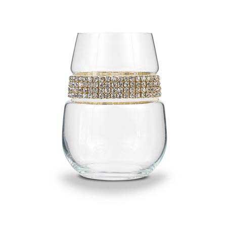 BWSGL - Stemless Wine Glass Gold Bracelet