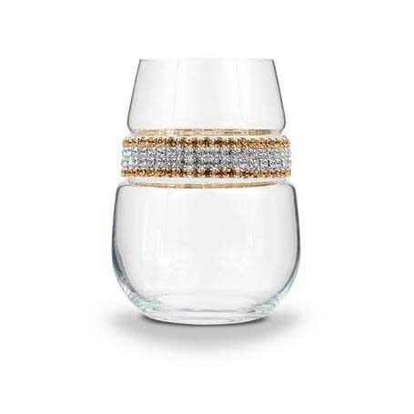 BWSGS - Blank Stemless Wine Glass 24 Karat (Gold/Silver) Bracelet