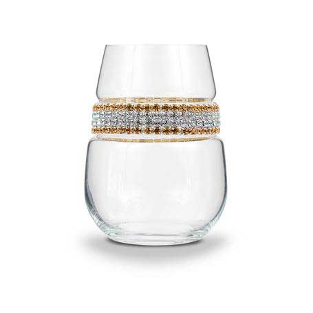 BWSGS - Stemless Wine Glass 24 Karat (Gold/Silver) Bracelet