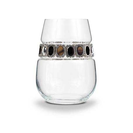 BWSPD - Blank Stemless Wine Glass Painted Desert Bracelet