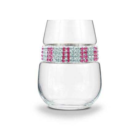 BWSPI - Blank Stemless Wine Glass Pink Ice Bracelet