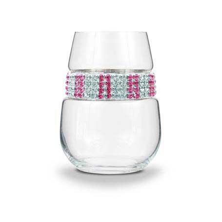 BWSPI - Blank Stemless Wine Glass Pink Ice Bracelet