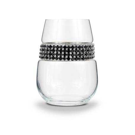 BWSRS - Blank Stemless Wine Glass Raven Silver Bracelet