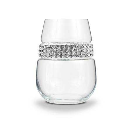 BWSSL - Stemless Wine Glass Silver Bracelet