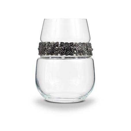 BWSVS - Stemless Wine Glass Vintage Silver Bracelet