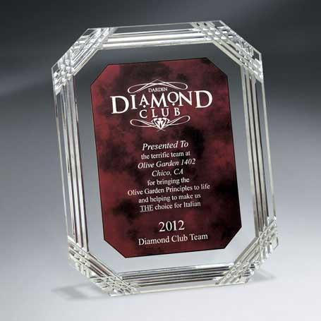 C1407L* - Diamond Carved Octagon Plaque