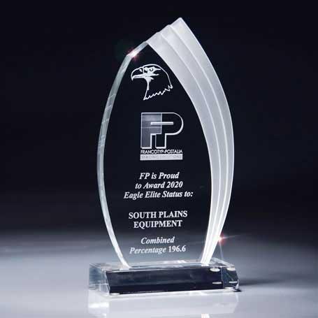 C3450CC - Clear Cascade Lucite Award - Large