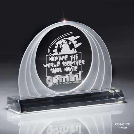C3451BC - Clear Cascade Dome Award - Medium