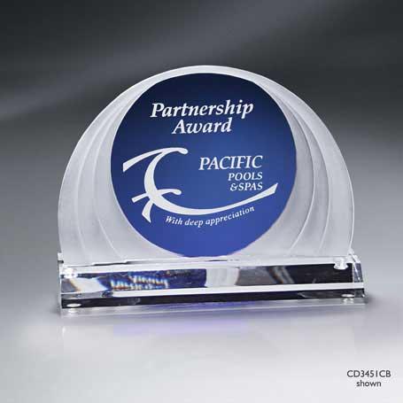 C3451BB - Blue Cascade Dome Award - Medium