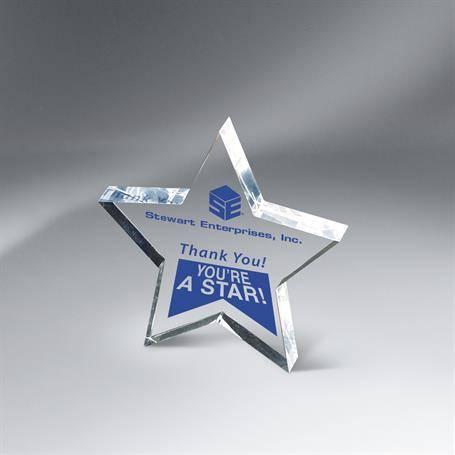 C4252L - Lasered Lucite Star Award