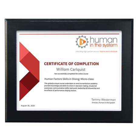 C4803 - Ebony Finish Certificate Frame