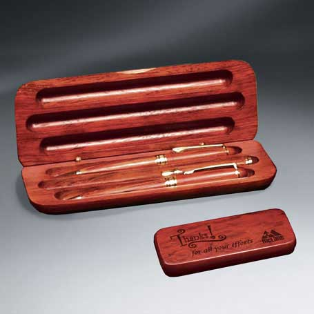 C5854 - Rosewood Pen - Pencil - Letter Opener and Case Set