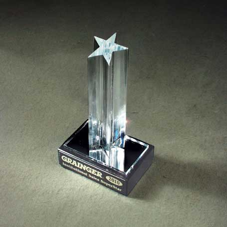 CA25A - Single Star on Marble Base - Small