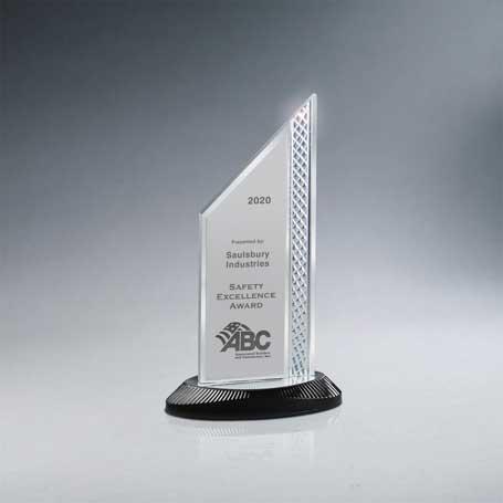 CD1000A* - Brushed Silver Aluminum Slant Top Award