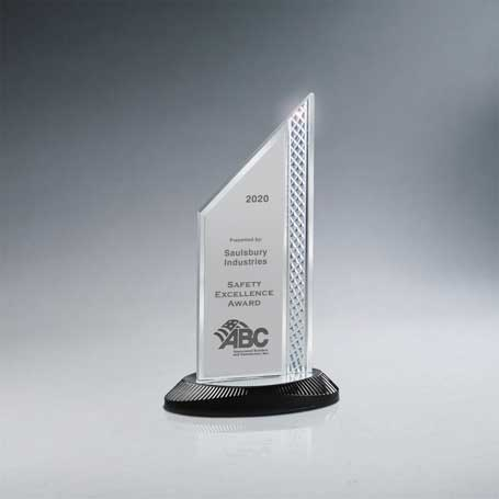CD1000A* - Brushed Silver Aluminum Slant Top Award
