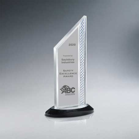 CD1000B* - Brushed Silver Aluminum Slant Top Award