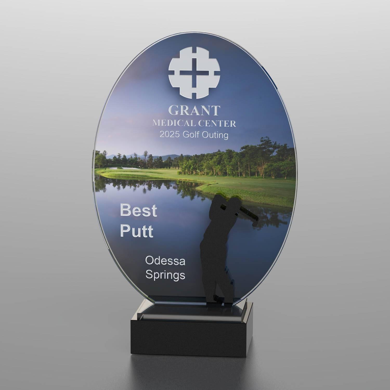 CD1053AF - Golf Course Silhouette Award