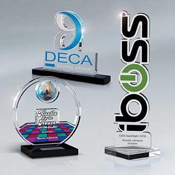 """CD561E - Laser-Cut Lucite Contour 1/2"""" Thick Up To 79 Sq In"""