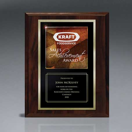 CD835 - Art Glass Accented Lasered Plaque