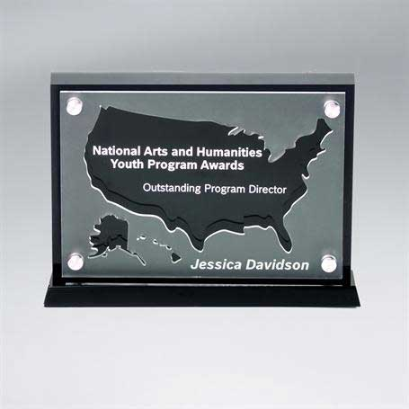 CD900USA - Frosted Lucite Silhouette Awards - USA