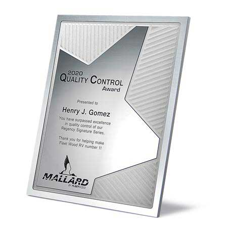 CD959* - Grooved Brilliance Plaque