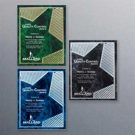 CD960* - Grooved Brilliance Acrylic Plaque