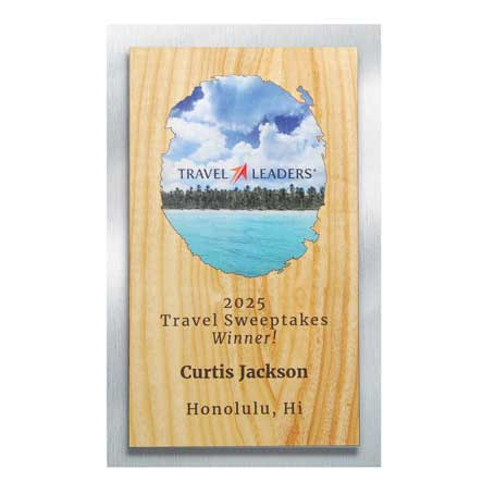 CD971A* - Wood and Silver Backer Digi-Color Plaque