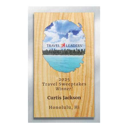 CD971A* - Wood and Silver Backer Digi-Color Plaque