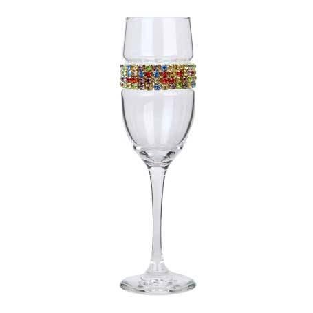 BCFCF - Blank Champagne Flute Confetti Bracelet