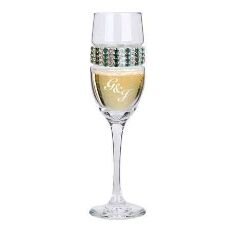 CFEM - Champagne Flute Emerald Bracelet