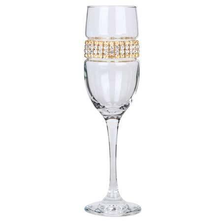 BCFGS - Blank Champagne Flute 24k (Gold/Silver) Bracelet