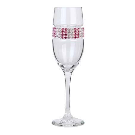 BCFPI - Blank Champagne Flute Pink Ice Bracelet